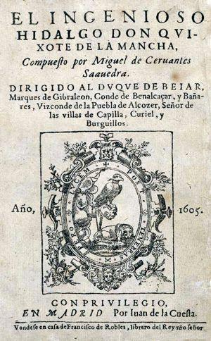 Primera edicion de don quijote de la mancha